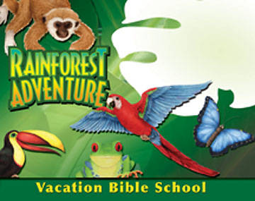 Augsburg Vacation Bible School 2008 Rainforest Adventure Outdoor Banner VBS