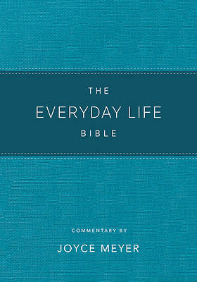 Picture of The Everyday Life Bible Teal Leatherluxe(r) New Amplified Version