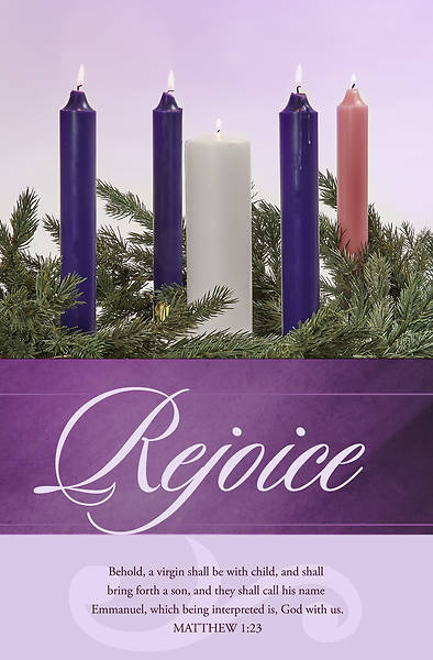 Picture of Rejoice Advent Week 5 Regular Size Bulletin