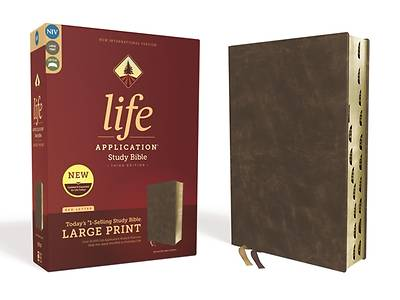 Niv, Life Application Study Bible, Third Edition, Large Print, Bonded Leather, Brown, Indexed, Red Letter Edition