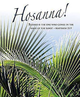 Hosanna! Palm Sunday Bulletin 2012, Large Size (Package of 50)