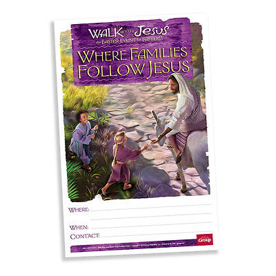 Walk with Jesus Publicity Posters Pkg of 5