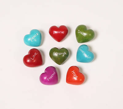 Word Hearts Set of 8 - Kenya