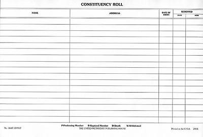 Constituency Roll (Pkg of 50)