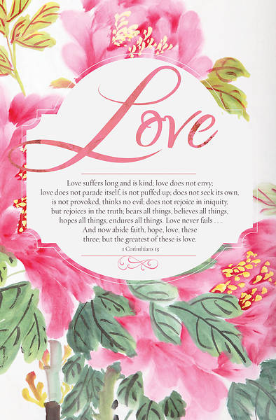 Love 1 Corinthians 13 Wedding Bulletin Pkg of 100