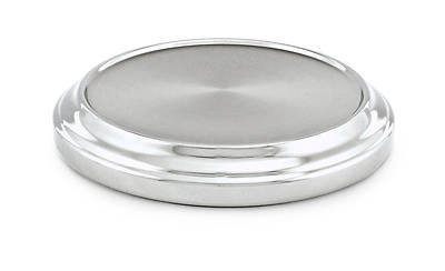 Communion Stacking Bread Plate Base - Polished Aluminum