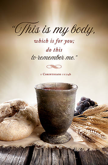Picture of This is My Body Communion Bulletin (Package of 100)