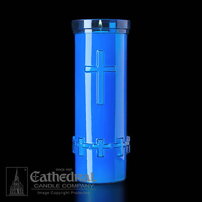 Cathedral Devotiona-Lites Plastic Offering Lights - 6 Day, Blue