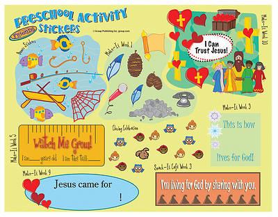 Picture of FaithWeaver Friends Preschool Activity Stickers (pkg. 5) Fall 2016
