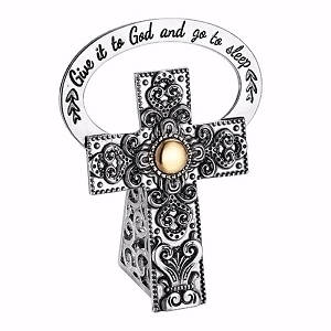 Bedside Cross Give It To God And Go To Sleep 2.5""