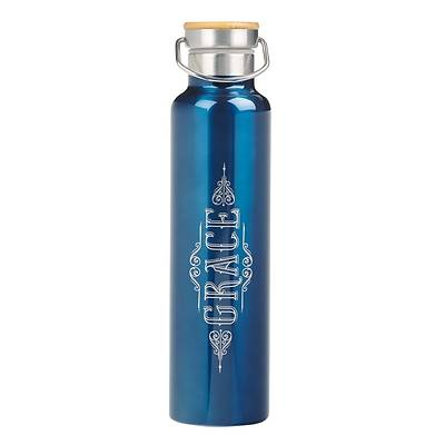 Picture of Stainless Steel Water Bottle Blue Grace Ephesians 2