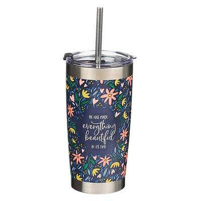 Picture of Travel Mug Stainless Steel Everything Beautiful Ecclesiastes 3