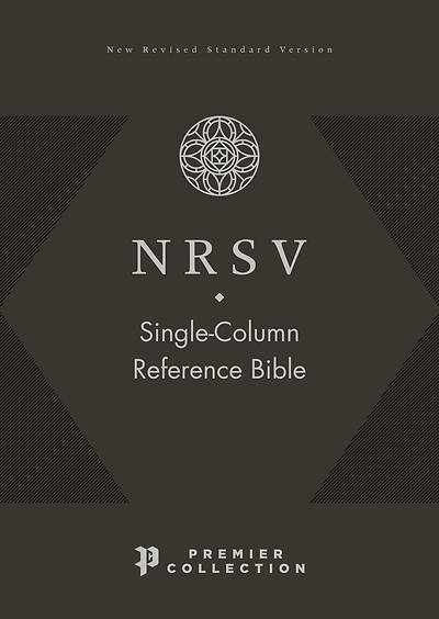 Picture of Nrsv, Single-Column Reference Bible, Premium Leather, Goatskin, Black, Premier Collection, Comfort Print