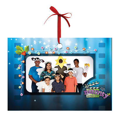 Nativity: Lights!, Camera!, Action! Keepsake Foto Ornament (Pkg of 10)