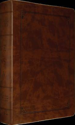 ESV Study Bible, Larger Print (Trutone, Walnut, Frame Design)