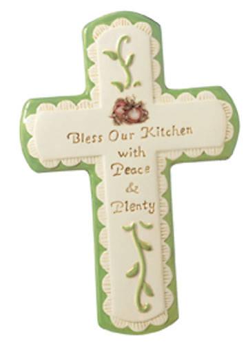 "Picture of Ceramic Kitchen Cross 7"""
