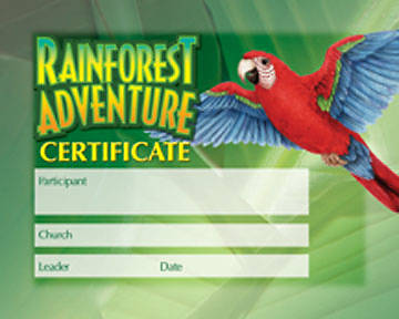 Augsburg Vacation Bible School 2008 Rainforest Adventure Kids Certificate (Package of 25) VBS