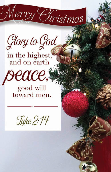 Glory To God Merry Christmas Regular Size Bulletin