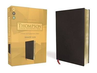 Picture of Kjv, Thompson Chain-Reference Bible, Handy Size, Bonded Leather, Black, Red Letter