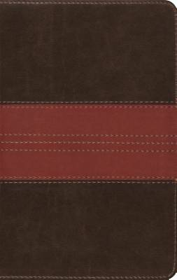 ESV Large Print Compact Bible (Trutone, Forest/Tan, Trail Design)