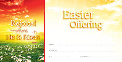 Easter Sunrise Offering Envelope Matthew 28:7 Package of 100