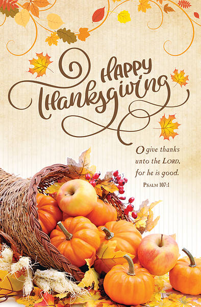 Happy Thanksgiving Regular Size Bulletin