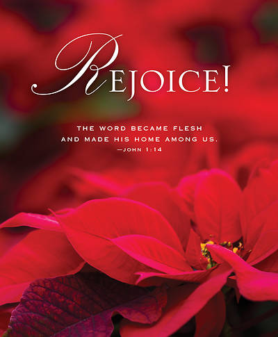 The Word Poinsettia Christmas Bulletin, Large (Pkg of 50)