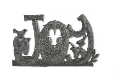 Picture of Metal JOY Nativity Wall Art