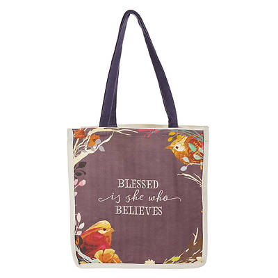 Picture of Blessed Is She Who Believes Tote Bag