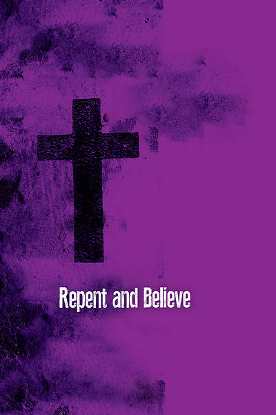 Picture of Repent and Believe Images Ash Wednesday Bulletin (Pkg of 50)