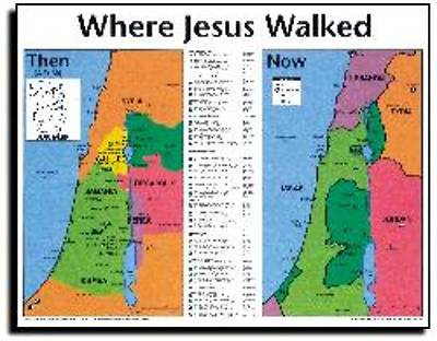Picture of Wall Chart Were JESUS Walked