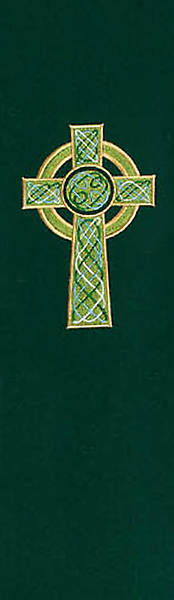 Celtic Cross 8700 Series Green Stole