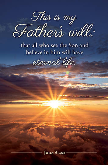 Picture of This is My Father's Will Funeral Bulletin (Package of 100)