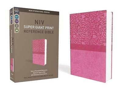 NIV, Super Giant Print Reference Bible, Giant Print, Imitation Leather, Pink, Red Letter Edition