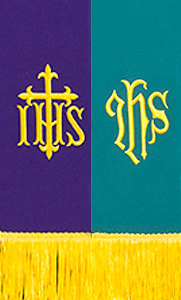 Reversible Purple/Green IHS Stole
