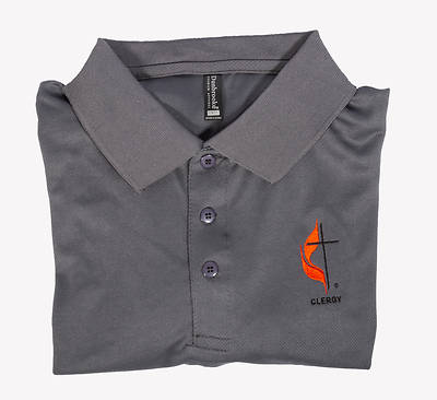 Picture of Polo Shirt - Large Clergy Cross and Flame
