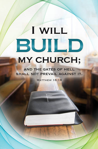 I Will Build My Church Anniversary Regular Size Bulletin