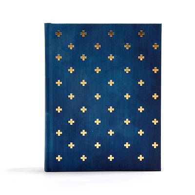 Picture of CSB Notetaking Bible, Navy/Cross Cloth-Over-Board