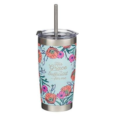 Picture of Travel Mug Stainless Steel His Grace Is Sufficient 2 Corinthians 12