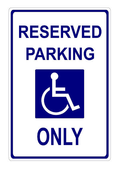 Picture of Reserved Disabled Parking Sign