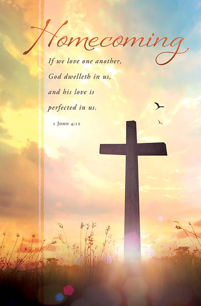 Picture of Cross in Field Homecoming Bulletin Regular 1 John 4:12