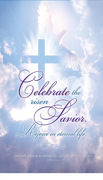 Picture of Celebrate the Risen Saviour Easter 3' x 5' Fabric Banner