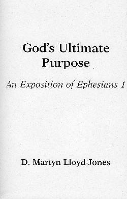 Gods Ultimate Purpose