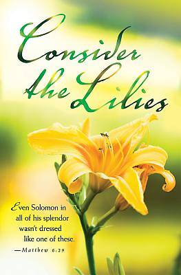 Consider the Lilies Summer Bulletin (Pkg of 50)