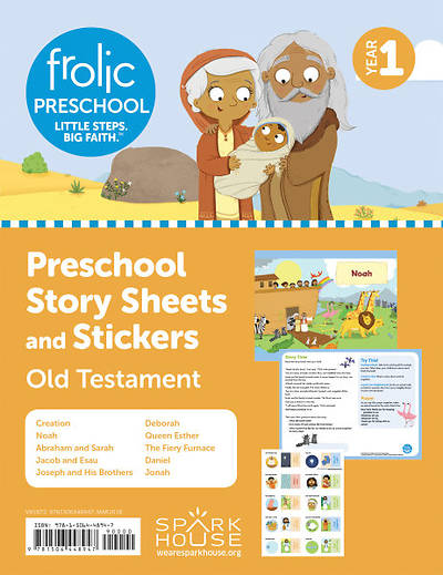 Picture of Frolic Preschool Story Sheets and Stickers Yr 1 Old Testament