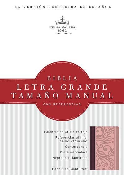Picture of Rvr 1960 Biblia Letra Grande Tamano Manual, Borravino/Rosado Simil Piel