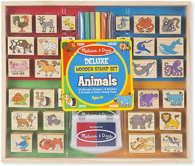 Picture of Deluxe Wooden Stamp Set - Animals