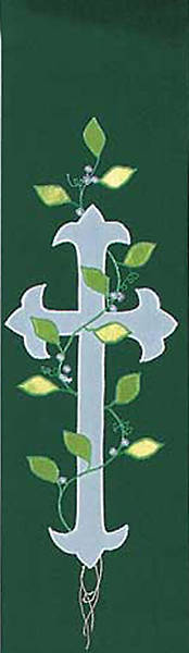 Stole Green Cross with Vine