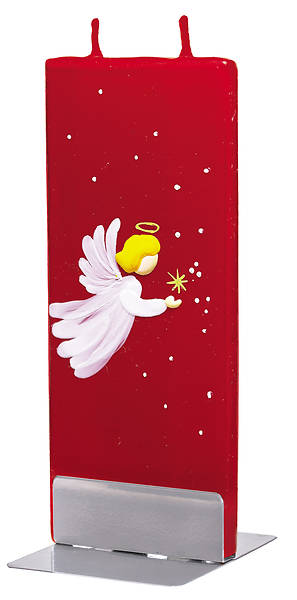 Picture of Handmade Flat Candle Baby Angel Red