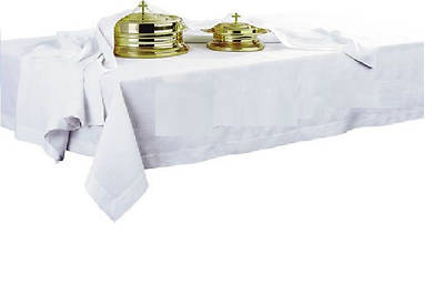 "Artistic 100% Linen Communion Table Cover - 50"" x 86"""